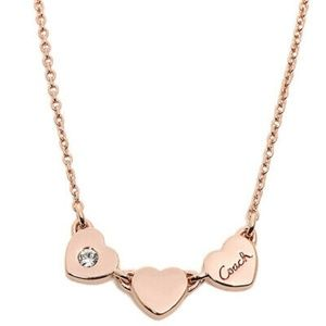 Coach Rose Gold Heart Necklace